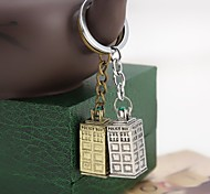 High Quality Doctor Who Blue Enamel Police Box Keychain For Mens United Kingdom TV Jewelry Key Chains Ring