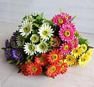 baratos -flores artificiais 12 cabeças de alta qualidade margaridas flores flores de seda para o casamento decoração de casa 1pc / set