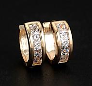 Серьги-гвоздики Серьги-кольца бижутерия Циркон Сплав Бижутерия Назначение Свадьба Для вечеринок Повседневные Спорт