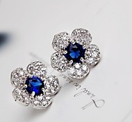 Women's Stud Earrings Drop Earrings Fashion European Costume Jewelry Cubic Zirconia Platinum Plated Alloy Jewelry For