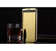 Недорогие -Для Кейс для LG Зеркальная поверхность / Флип / Прозрачный Кейс для Чехол Кейс для Один цвет Твердый Акрил LG LG V10