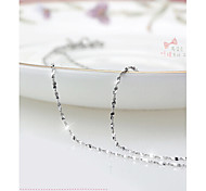 cheap -Women's Cute Sterling Silver Silver  -  Party Fashion White Silver Necklace For Daily
