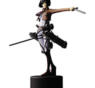 Anime Action Figures Inspired by Attack on Titan Mikasa Ackermann PVC 14 CM Model Toys Doll Toy