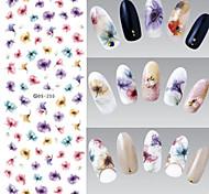 Недорогие -1 Наклейка для переноса воды Украшения для ногтей 3D-стикеры для ногтей Цветы Мода Повседневные Высокое качество