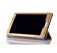 Недорогие -Кейс для Назначение Huawei Полноразмерные чехлы Чехол Сплошной цвет Твердый Кожа PU для