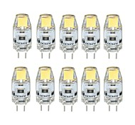 abordables -10pcs 1W 100 lm G4 Luces LED de Doble Pin T 1 leds COB Regulable Blanco Cálido Blanco Fresco DC 12V