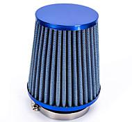 """abordables -Reemplazo de manguera de plástico de 76 mm 3 """"pinza cónica malla del filtro de entrada de aire del coche azul"""
