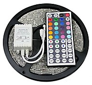 abordables -Tiras de Luces RGB 300 LED RGB Control remoto Cortable Color variable Auto-Adhesivas DC 12V