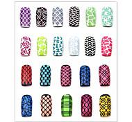 Недорогие -Цветы-3D формы для акрилового маникюра-Пальцы рук / Пальцы ног-7.5*13cm-1pcs nail sticker template-ПВХ