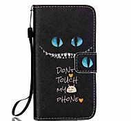 Blue Eyes Pattern PU Leather Lanyard phone Case For Samsung Galaxy A3(2016)/A5(2016)