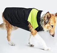 Недорогие -Собака Плащи Жилет Одежда для собак Сохраняет тепло Защита от ветра Контрастных цветов Желтый Зеленый Синий Розовый Костюм Для домашних