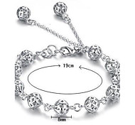 cheap -Women's Sterling Silver Chain Bracelet Charm Bracelet - White Bracelet For Christmas Gifts Wedding Party