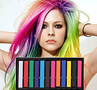 12 Color Temporary Chalk Crayons for Hair Non-toxic Hair Dye Pastels Stick DIY Styling Tools