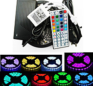 abordables -ZDM® 5 m Sets de Luces 300 LED 1 x 12V 3A adaptador 1 cable de CA RGB Cortable Auto-Adhesivas Decorativa 110-120V 220-240V 1 juego