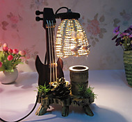 cheap -Creative Wood The Violin with Pen Container Decoration Desk Lamp Bedroom Lamp Gift for Kid