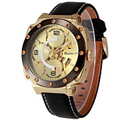 Men's Skeleton Fashion Design Leather Band Auto Mechanical Watch Wrist Watch Cool Watch Unique Watch