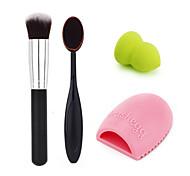 макияж зубная щетка + основа + основа + слоеного очистки яйцо