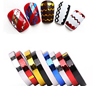 Rolls Stripping Tape Waves Line Strips Decor Decals Wraps Tools Gold Silver Nail Art Sticker Roll Beauty