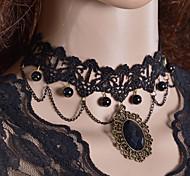 Женский Ожерелья-бархатки Ожерелья-обручи Готический ювелирные изделия Кружево Ткань Мода Бижутерия Назначение Свадьба Для вечеринок