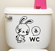 Creative Little Rabbit Toilet Stickers