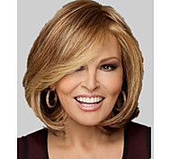 cheap -Top Quality Fashion Middle Short Wavy Wig Woman's Synthetic Wigs Hair Freeshipping