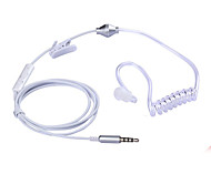 Stereo Monaural 3.5mm Anti Radiation Earphone Air Spring Duct Earhook Headphone For iPhone Samsung All Phone & MP3