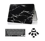 """abordables -3 en 1 caso de mármol de cuerpo completo + cubierta del teclado + enchufe del polvo para el MacBook Pro de 13 """"/ 15"""""""