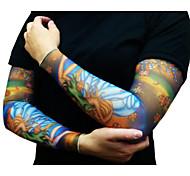 la metà Manicotti del tatuaggio per gli uomini 2016 scalda nuovo arrivo bracciale ciclismo sole traspirabilità della bicicletta elastica