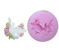 Flores Um Holes Pigeon Silicone Mold Fondant Moldes Sugar Craft Ferramentas Resina Mould moldes para bolos