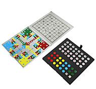 Mini-Aluminium-Magnet 4-in-1 Multi-Funktions-Reise Schach-Puzzle-Spiel Schach falten