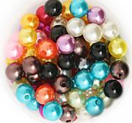 Недорогие -beadia 64g (приблизительно 300pcs) абс жемчуг 8мм круглый 15 цветов U-выбор пластиковых свободные шарики DIY аксессуары
