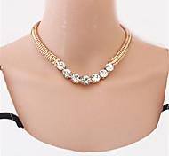 preiswerte -Damen Gestalten Schmuck mit Aussage nette Art Modisch Europäisch Halsketten Perlenkette Statement Ketten Perle Aleación Halsketten