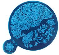 Недорогие -1pc гвоздь тиснение diy ногтей искусство зеркало печать шаблон инструмент для ногтей