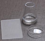 Иностранец прозрачной крышкой с печатью + большой скребка 3,8 см прозрачный силикон головы