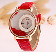Women's Fashion Watch Quartz PU Band Black White Blue Brown Green Purple Rose Strap Watch