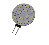 2W G4 Faretti LED MR11 12 leds SMD 5730 Decorativo Bianco caldo Luce fredda 3000-3500/6000-6500lm 3000-3500K 6000-6500KK DC 24 DC 12 AC