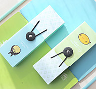 1PC Elastic Pen Boxes South Korea's Creative Writing Case Tower Buckle Stationery Pen Bag (Style random)