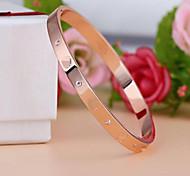 Недорогие -Муж. Женский Браслет цельное кольцо Мода Титановая сталь Любовь Бижутерия Назначение Свадьба Для вечеринок Повседневные Новогодние подарки