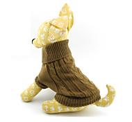 Недорогие -Кошка Собака Свитера Одежда для собак Однотонный Коричневый Сукно Костюм Для домашних животных Муж. Жен.