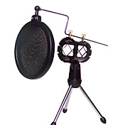 cheap -Shock Mount Microphone Stand Holder with Integrated Pop Filter Black Kit