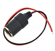 cheap -Jtron DIY 12~24V Car Cigarette Lighter Charger - (Black & Red)