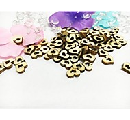 cheap -100PCS Wooden Mini Double Heart Wedding Table Decoration Party Scatters