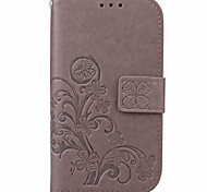 cheap -Case For Samsung Galaxy Samsung Galaxy Case Card Holder Wallet with Stand Flip Embossed Full Body Cases Flower PU Leather for J7 (2016)