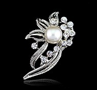 cheap -Women's Crystal Brooches - Resin, Rhinestone Flower Fashion Brooch Silver For Wedding / Party / Birthday