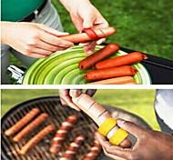 2PCS Manual Hot Dog Slicer Cutting BBQ Fancy Sausage Cutter Kitchen Spiral Cutting Tools