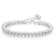 cheap -Women's Sterling Silver Ball Chain Bracelet / Charm Bracelet - Unique Design / Fashion Silver Bracelet For Wedding / Party / Gift