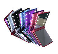 cheap -LED Mirrors Mini Portable Folding Compact Hand Cosmetic Make Up Pocket Mirror with 8 LED Light for Women Girls Lady