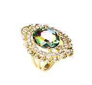 cheap -Women's Silver Plated Statement Ring - Fashion Screen Color Ring For Party