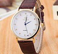 Mulheres Feminino Relógio Elegante Relógio de Moda Relógio de Pulso Relógio Esportivo Quartzo Couro Legitimo Banda Amuleto Casual Cores