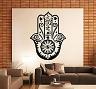9382 Hamsa Hand Wall Decal Vinyl Fatima Yoga Vibes Sticker Fish Eye Decals Indian Buddha Home Decor Lotus Mural